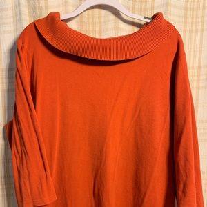 Plus size orange top